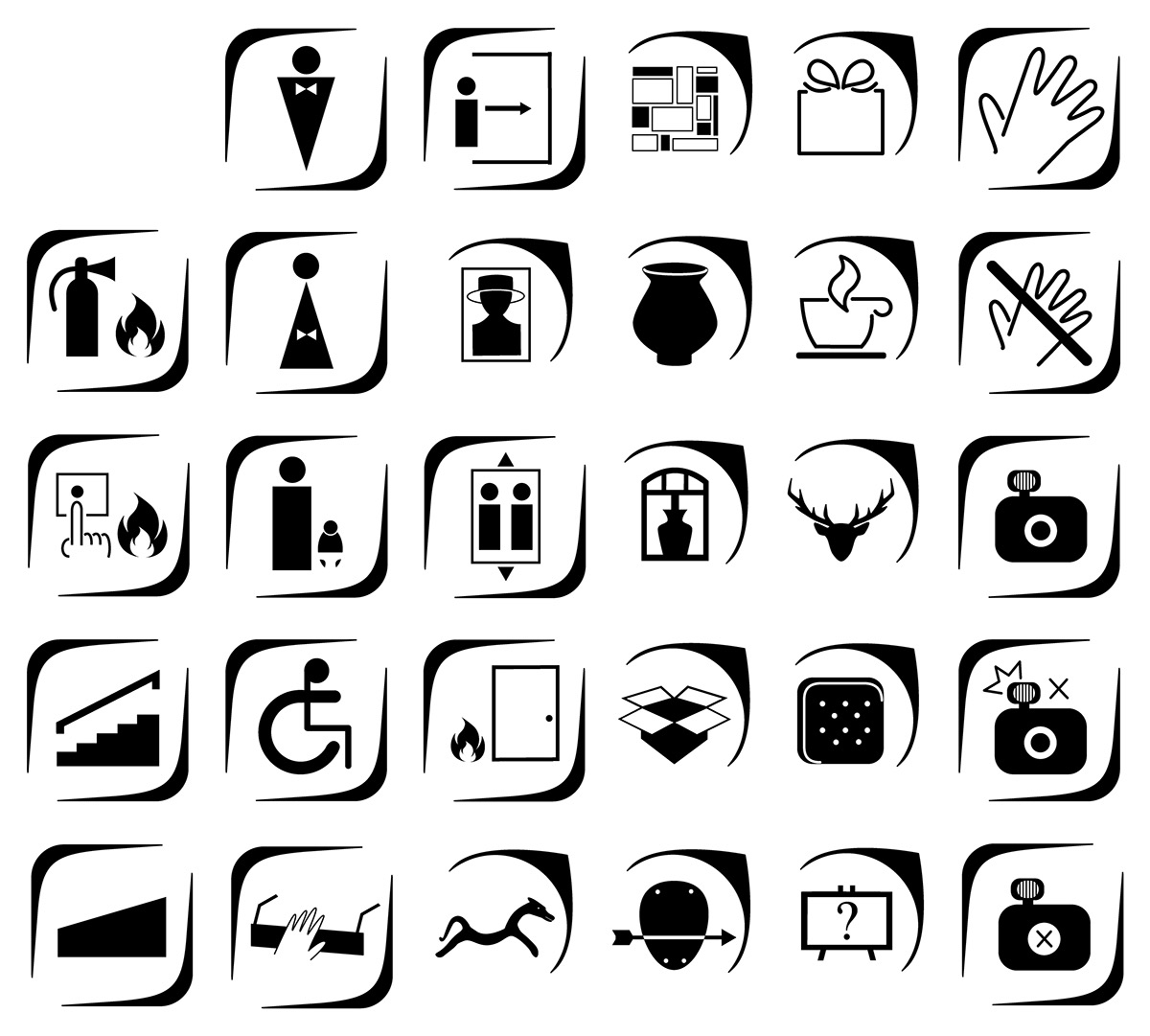 Reading Museum Pictograms Redesign Fictional On Behance
