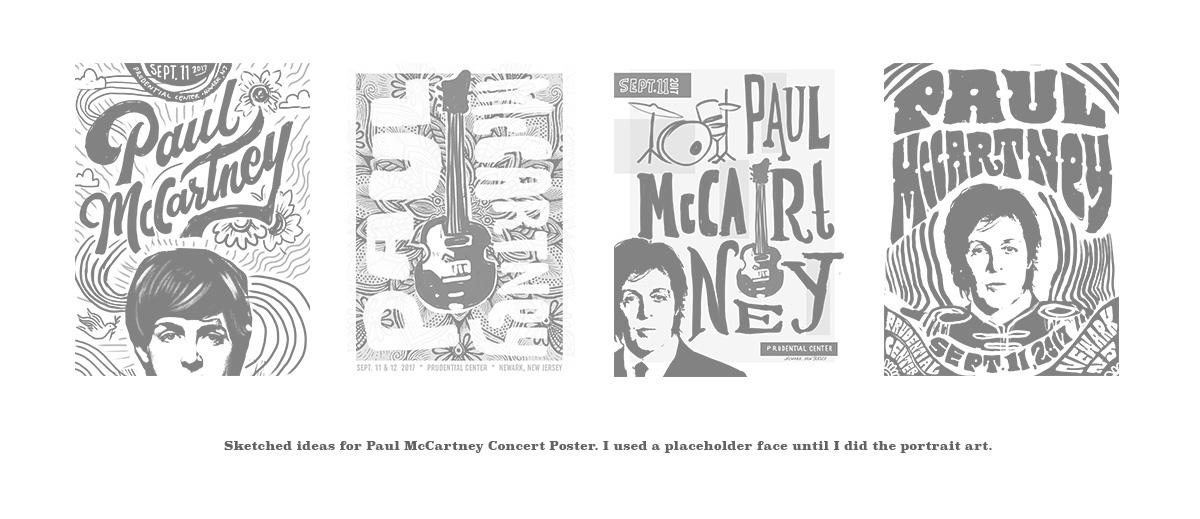 paul mccartney poster on behance