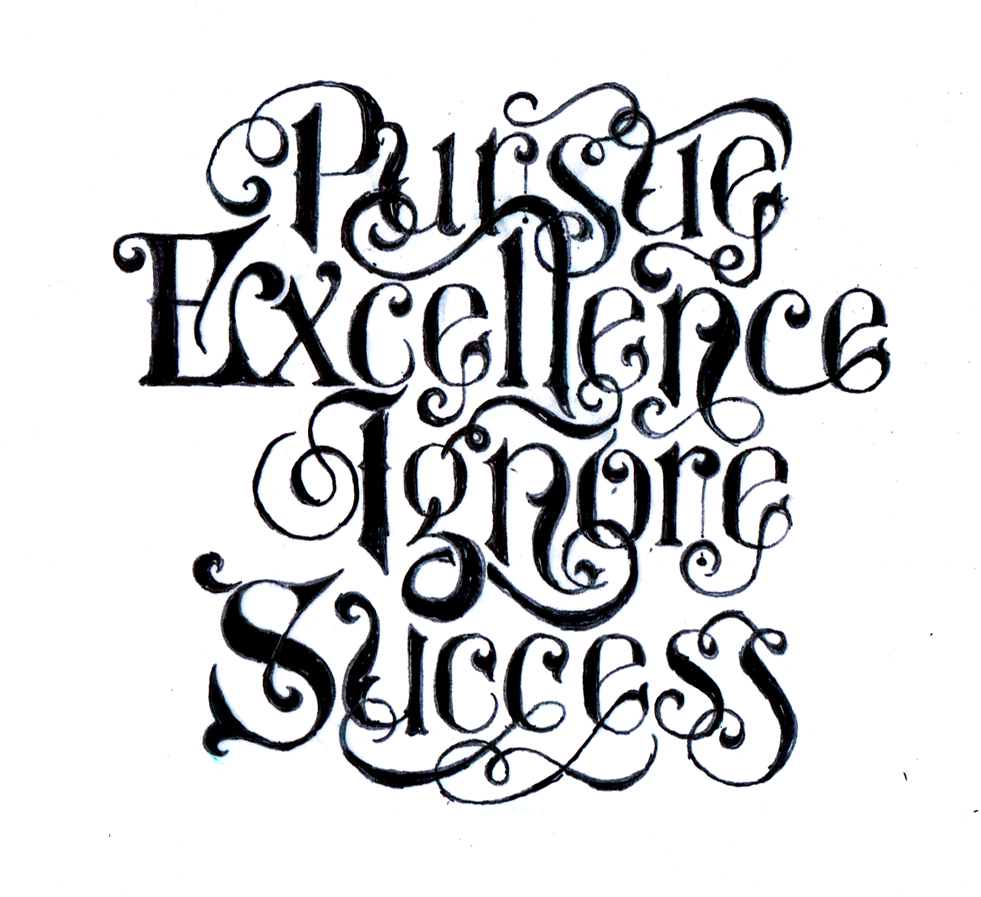 Pursue excellence ignore success