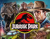 jurassic park movie poster on behance