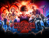 stranger things 2 official poster on