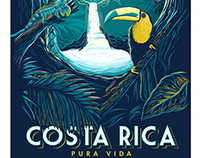 costa rica travel poster on behance