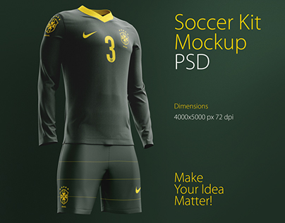 Download Soccer Kit Mockup PSD on Behance