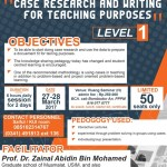 workshop case research and writing for teaching purposes - Level 1