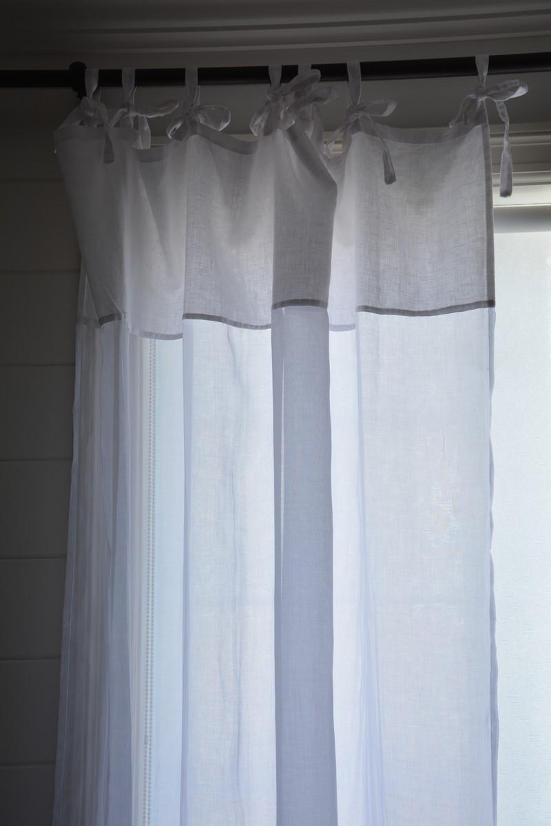 rideau voile blanc 55x114