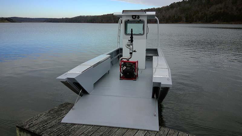 white boat on lake