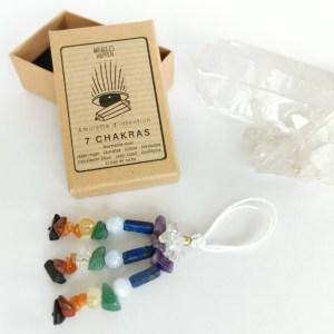 amulette_7_chakras_tourmaline_noire_jaspe_rouge_cornaline_citrine_aventurine_calcédoine_bleue_lapis_lazuli_améthyste_cristal_de_roche