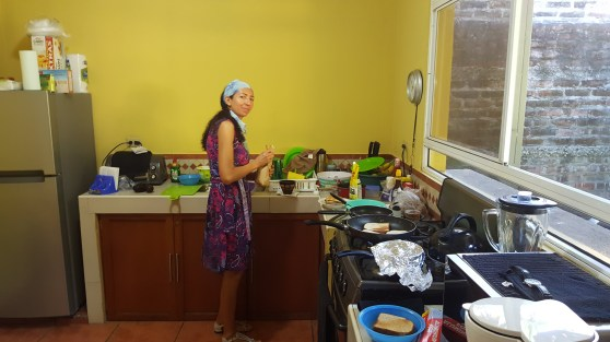 Anna cooking