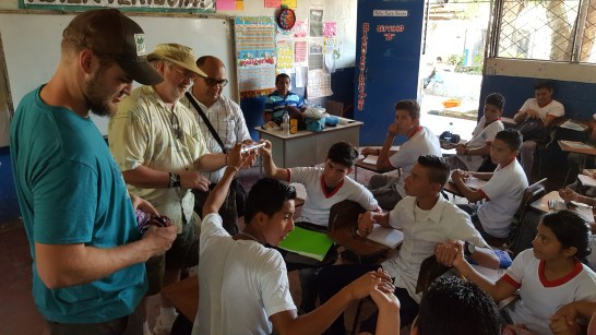 Evangelising at a school
