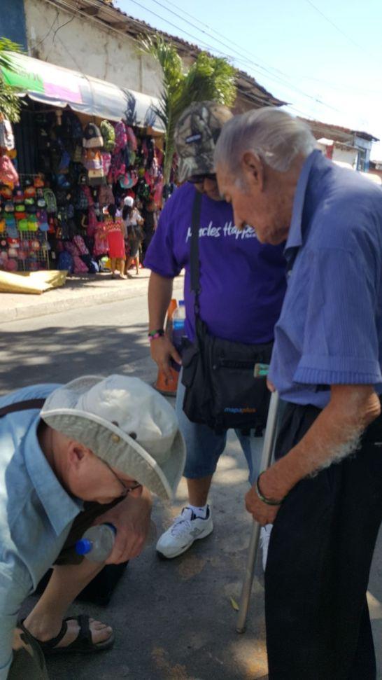 Praying for a mans leg