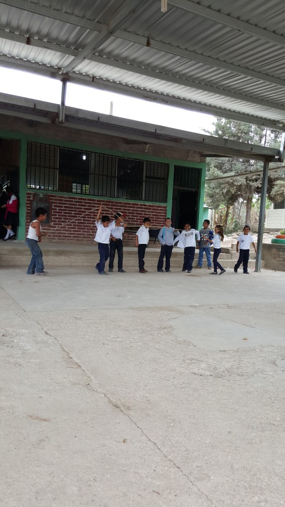 Children playing at school