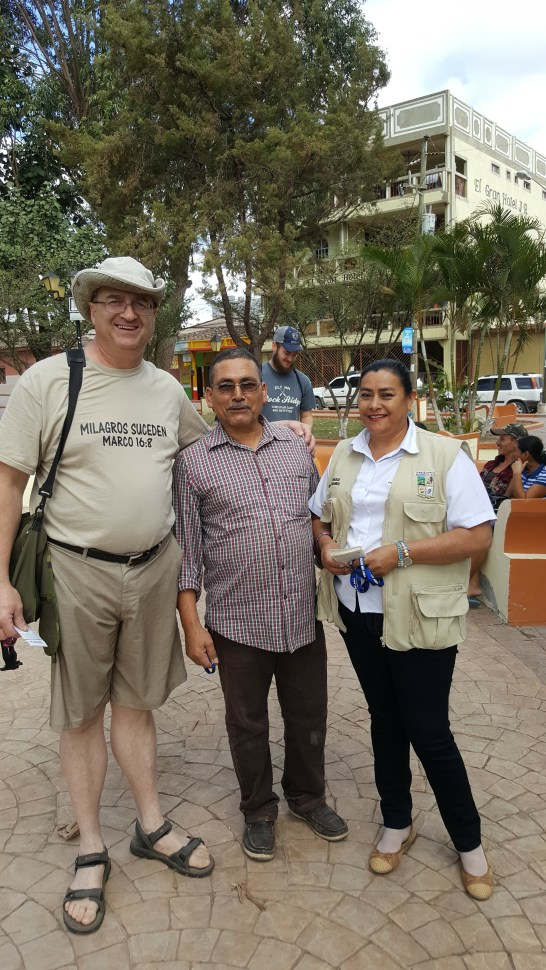 Meeting a pastor in San Marcos Ocotepeque Honduras