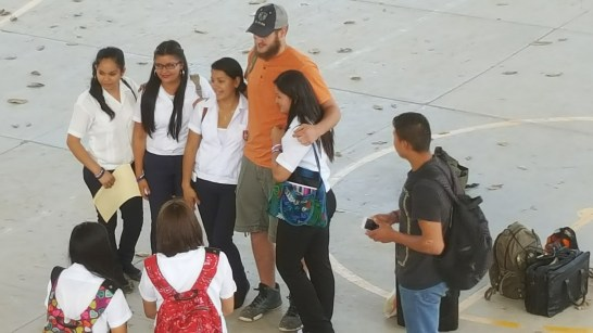 Meeting students at a school in San Marcos Ocotepeque Honduras