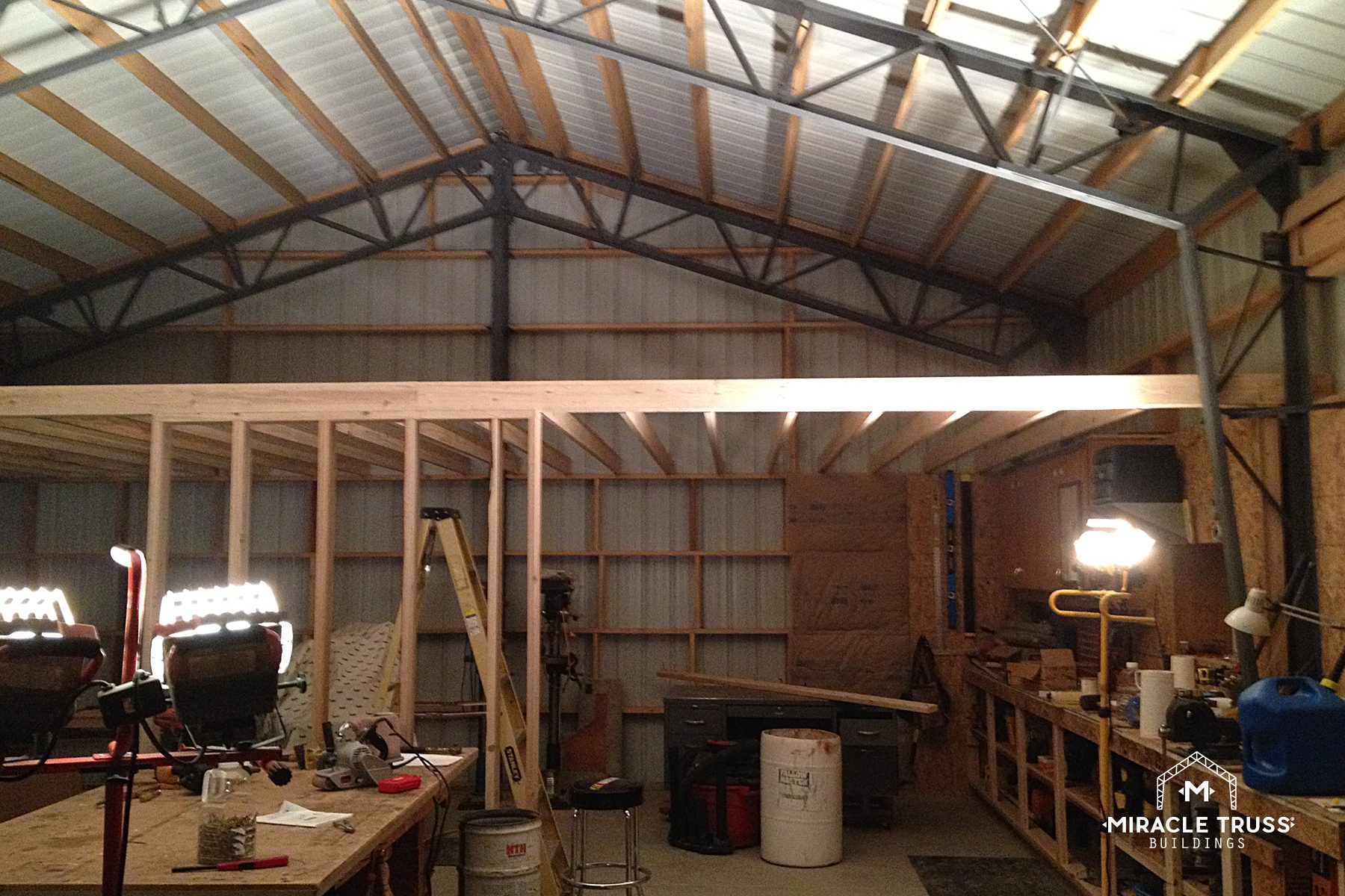 Easy assemble diy metal garage or shop miracle truss, 20 x 38 house plans