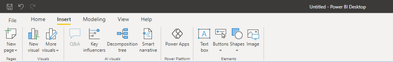 microsoft power bi news update news visuals insert area design