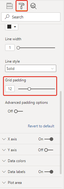 power bi microsoft small multiples column chart grid padding default