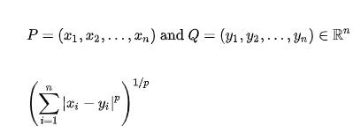 minkowski formula