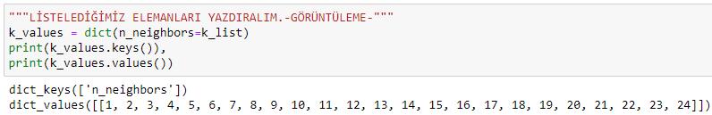 python knn k-nearest neighbours k-en yakin komsu microsoft power bi data science parameter list show
