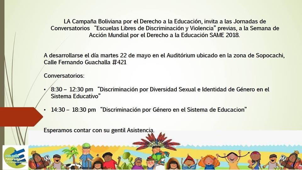 Conversatorio «Escuelas Libres de Discriminación y Violencia»