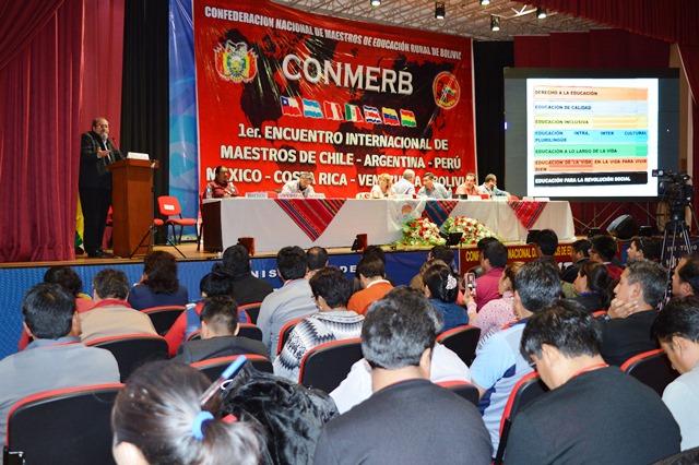 Maestros rurales  de Latinoamérica destacan  Modelo Educativo de Bolivia