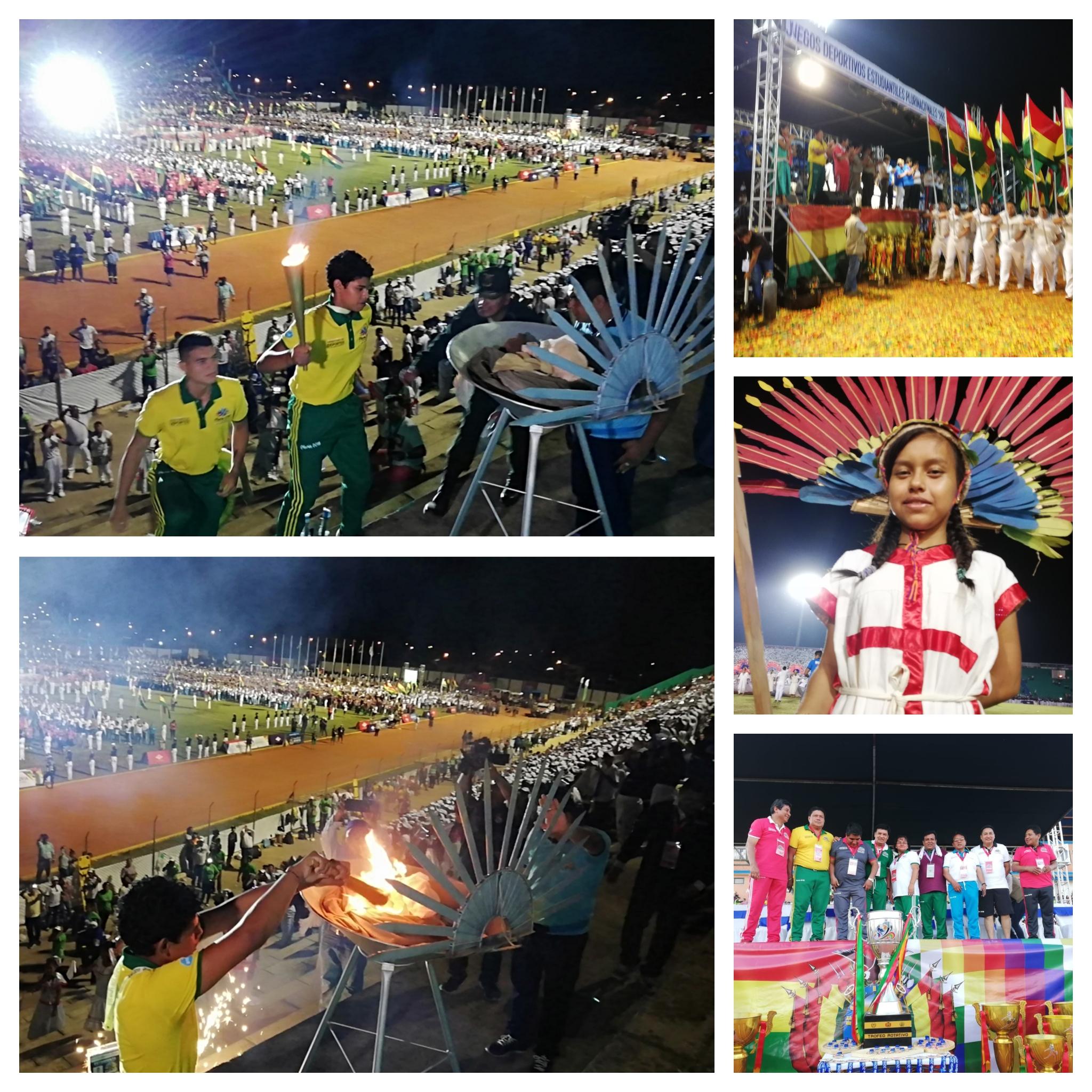 Trinidad se vistió de gala para la IX Juegos Estudiantiles Plurinacionales nivel secundario