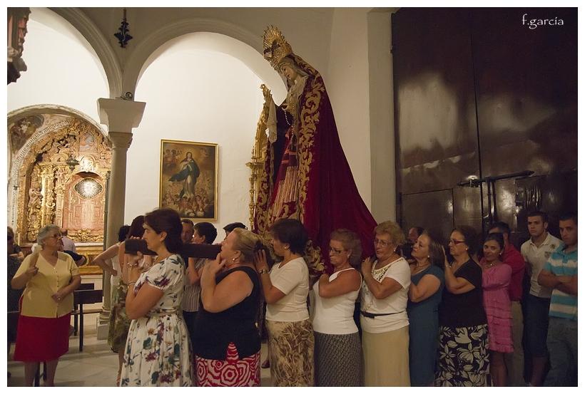 TRASLADO AL ALTAR MAYOR DE NUESTRA SEÑORA DE LOS DOLORES