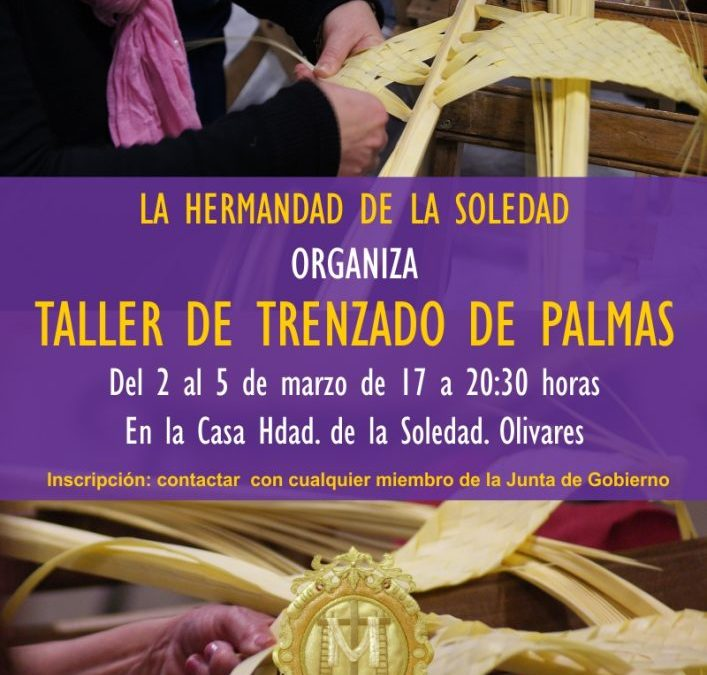 TALLER DE TRENZADO DE PALMAS