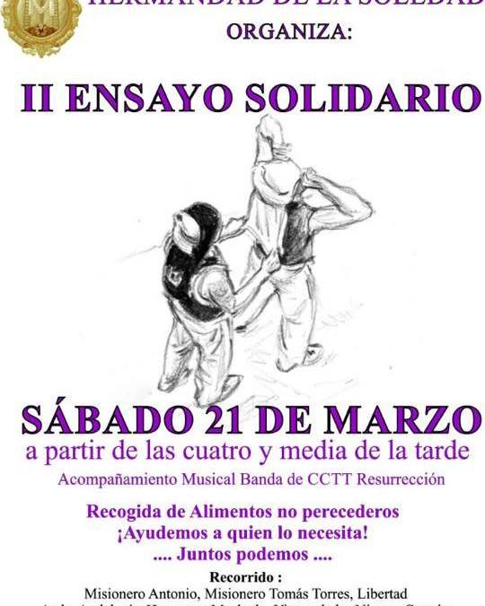 II ENSAYO SOLIDARIO DE LA HERMANDAD DE LA SOLEDAD