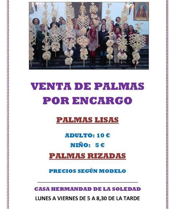 VENTA DE PALMAS POR ENCARGO