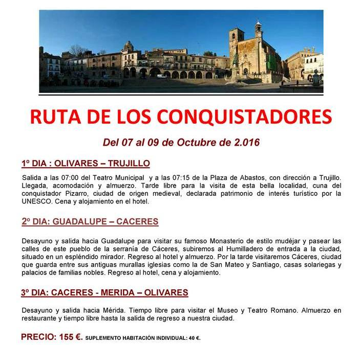 RUTA DE LOS CONQUISTADORES