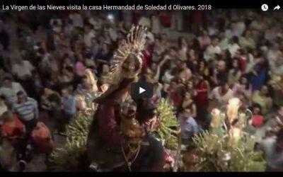 LA VIRGEN DE LAS NIEVES VISITA LA CASA HERMANDAD DE LA SOLEDAD