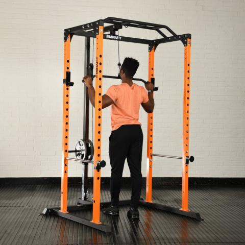 mirafit m100 power rack cable pulley system