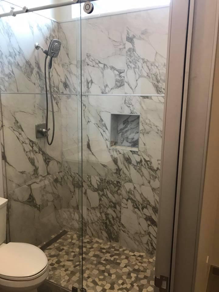 shower remodeling quartz granite
