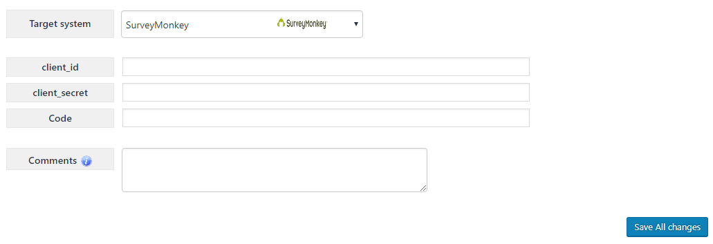 MiragetConnector - SurveyMonkey