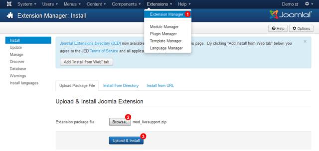 Miraget Install Joomla Plugin