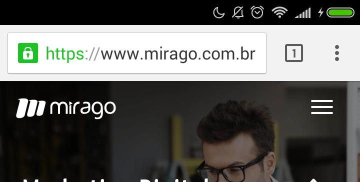 Barra de Endereço do Chrome padrão.