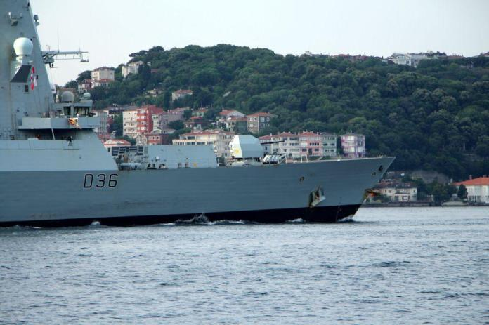 <p>İngiliz Kraliyet Donanmasına ait D36 Borda numaralı 'HMS Defender' ve Hollanda Kraliyet Donanmasına ait F 805 Borda numaralı 'HNLMS Evertsen' 19 gün önce Karadeniz'e açılmıştı.</p>