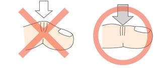 指袋圧の違い