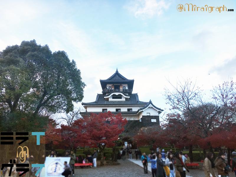 犬山城と紅葉