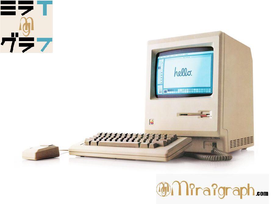 最初のMacintoshシリーズを探る 1月24日はアップルコンピュータから初のMacintoshシリーズが発売した日『今日というミライグラフ365』