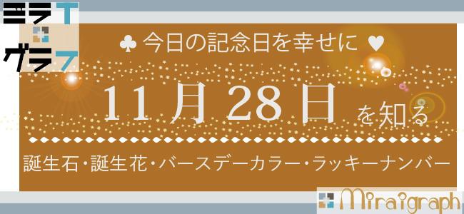 11月28日の誕生石誕生花バースデーカラーラッキーナンバー