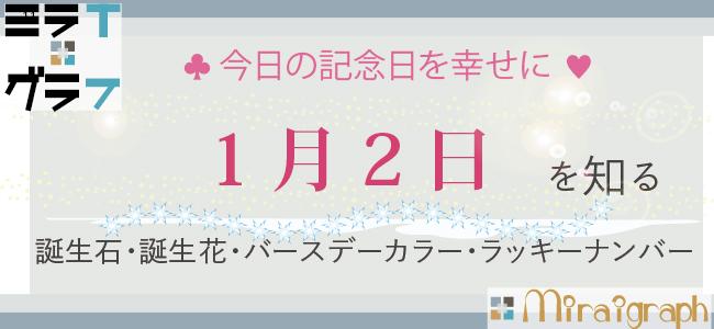 1月2日の誕生石誕生花バースデーカラーラッキーナンバー