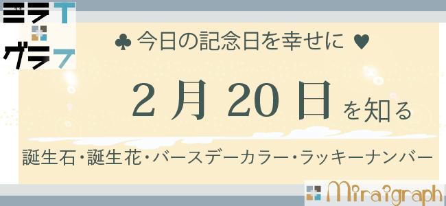 2月20日の誕生石誕生花バースデーカラーラッキーナンバー
