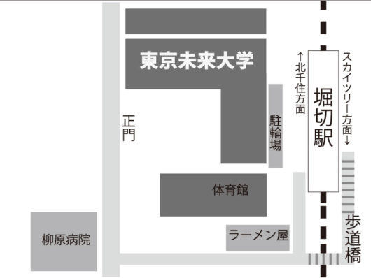 東京未来大学 アクセス 堀切駅