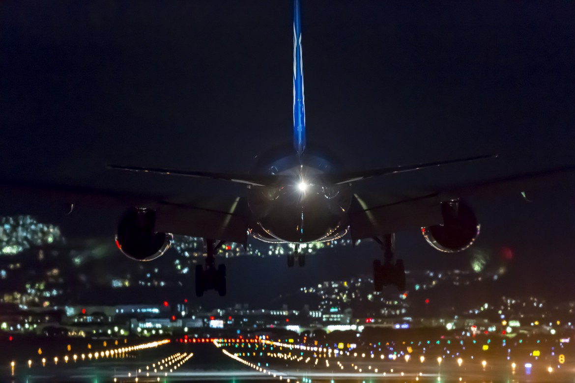 Landing at night by Kat Konishi on 500px