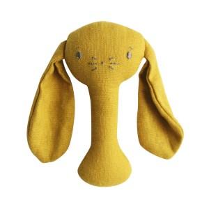 AR Stick Rattle - Bobby Bunny Butterscotch Linen