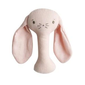 AR Stick Rattle - Bobby Bunny Pink Linen