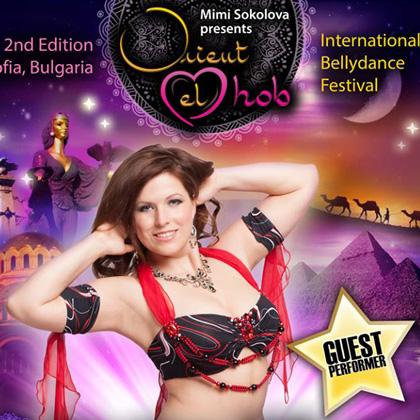 Tänzerin Marina Nickel vom Tanzstudio Miral in Fürstenwalde tritt auf dem International Bellydance Festival ›Orient el Hob‹ auf
