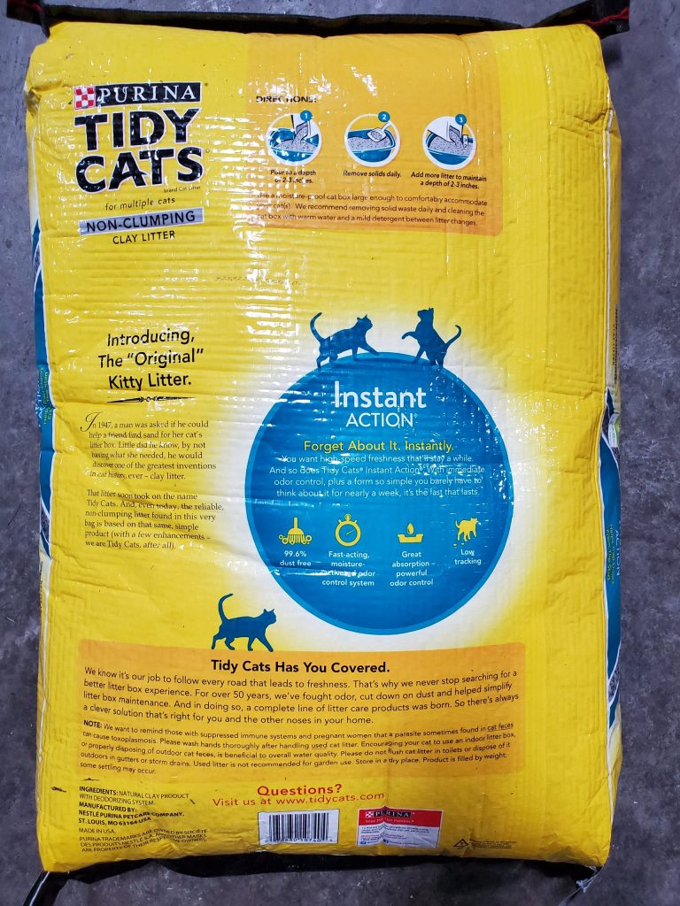Tidy cat instant action non clumping forty pound bag for sale