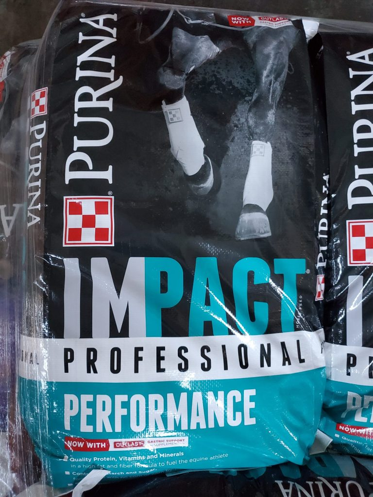 Purina Impact, Professional Performance gives your horse the nutrition it deserves. for sale at Miranda Country Store.